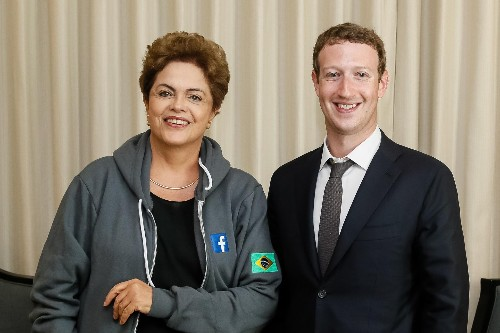 Mark Zuckerberg Meets With Brazil's President At the 7th Summit of the Americas, In Panama