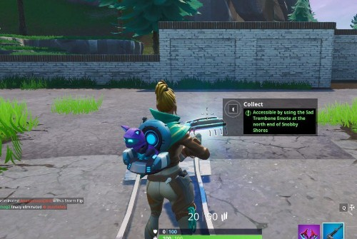 Fortnite Fortbyte #58 Location: Accessible With Sad Trombone Emote At The North End Of Snobby Shores