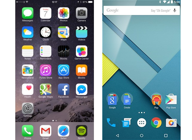 iOS 8 vs Android 5.0 Lollipop Review: Material Difference