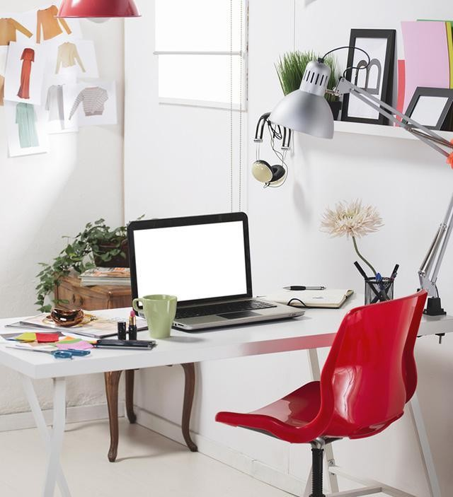 How To Turn A Tiny Space Into A Productive At-Home Office