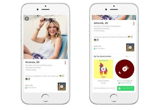 Spotify And Tinder Link Up To Form A Match Made In Heaven