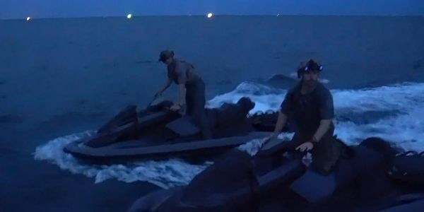Naval Special Warfare operating Jet Skis
