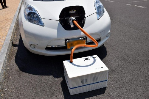 Charging An Electric Vehicle With SparkCharge: As Easy As Ordering A Pizza