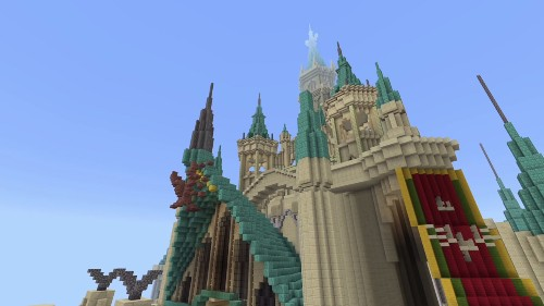 Hyrule Castle From 'Zelda: Breath Of The Wild' Has Been Recreated In 'Minecraft'