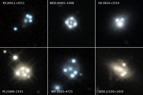 Eight New Quadruple Lenses Aren't Just Gorgeous, They Reveal Dark Matter's Temperature