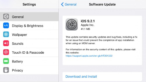 Apple iOS 9.2.1 Has A Nasty Surprise