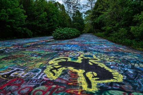 In Rural Pennsylvania, A Runaway Coal Fire Spawns High(way) Art