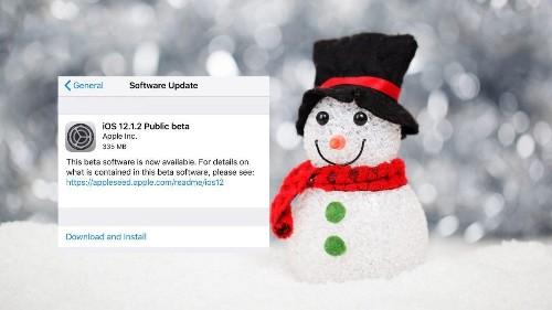 iOS 12.1.2 Public Beta 1: Frosty The Snow Developer Edition