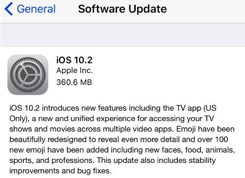 Apple iOS 10.2 Is Causing New Problems