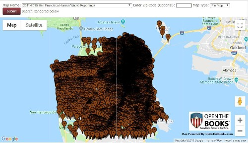 Mapping San Francisco's Human Waste Challenge - 132,562 Cases Reported In The Public Way Since 2008