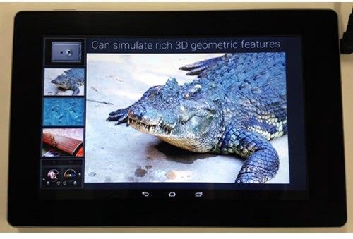 Touch Just Got Real, Fujitsu's Haptic Sensory Tablet
