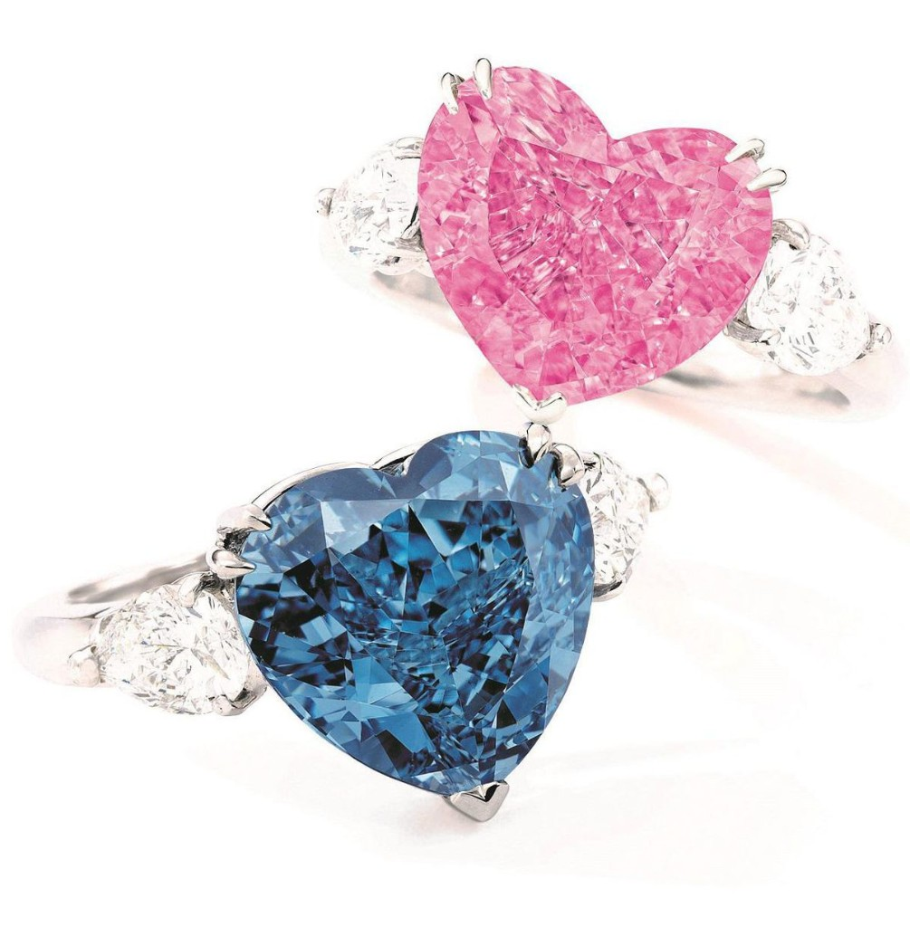 Two Heart-Shaped Colored Diamonds Fetch $18.6 Million At Sotheby's