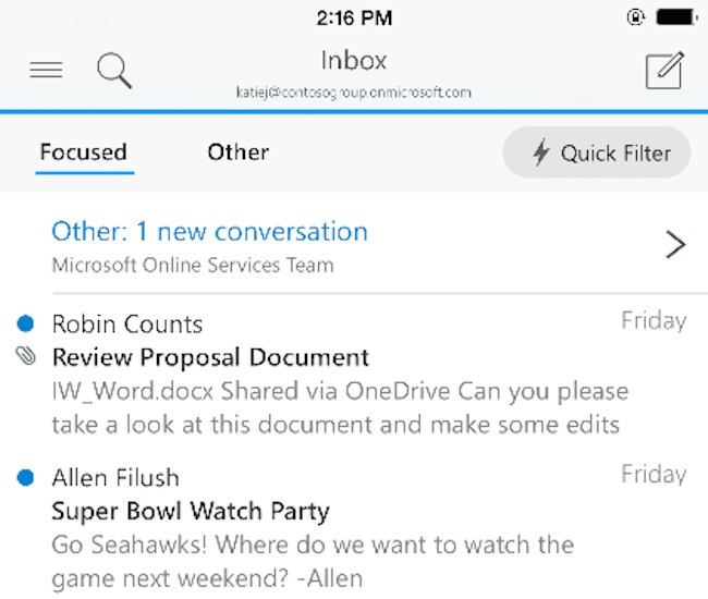 Microsoft Outlook For iOS And Android Arrives, It Looks Excellent