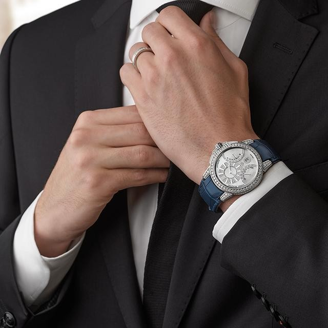 Harry Winston Delivers Diamonds and Biretrograde Complication In One Great Men's Watch