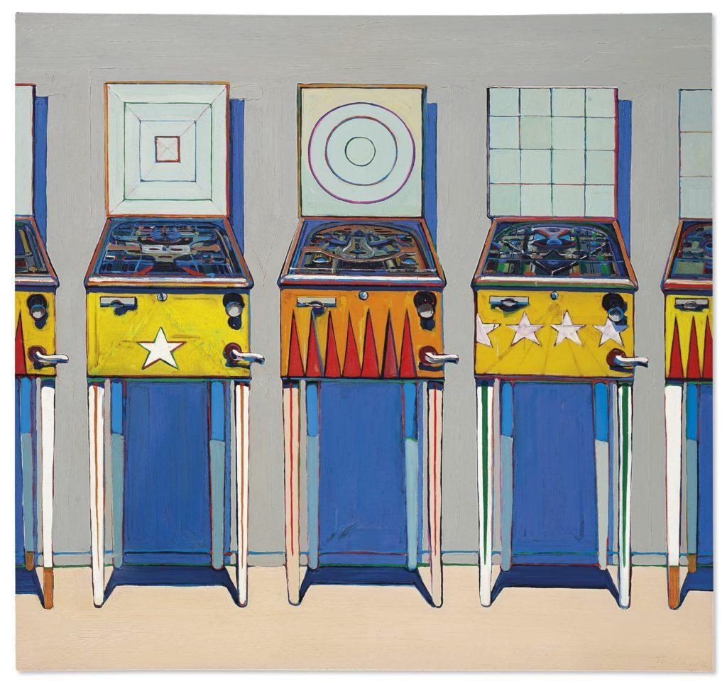 Wayne Thiebaud's 'Four Pinball Machines' Could Fetch As Much As $25 Million At Auction Ahead Of His 100th Birthday