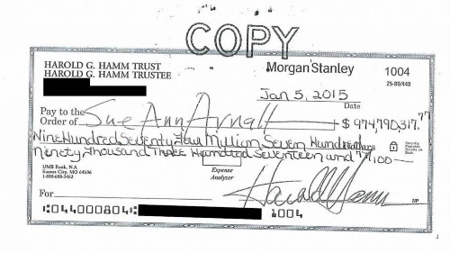 Harold Hamm's $975 Million Divorce Check: First Rejected, Then Cashed, Now Taxed