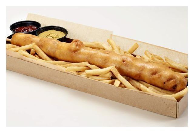 "A $25 Corn Dog? Arizona Diamondbacks Unveil 18-Inch, Stuffed ""D-Bat Dog"""
