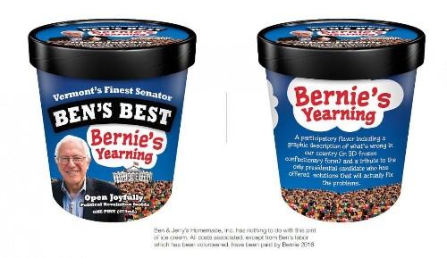 Taste The Wealth Gap With Bernie Sanders Ice Cream From Ben & Jerry's Creator