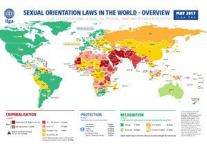 Safe Havens For LGBTI Travelers; New Maps and Survey Show Sexual Orientation Laws Around The World
