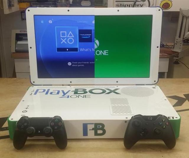 PlayBox Mod Combines Xbox One And PS4 Into A Single Laptop