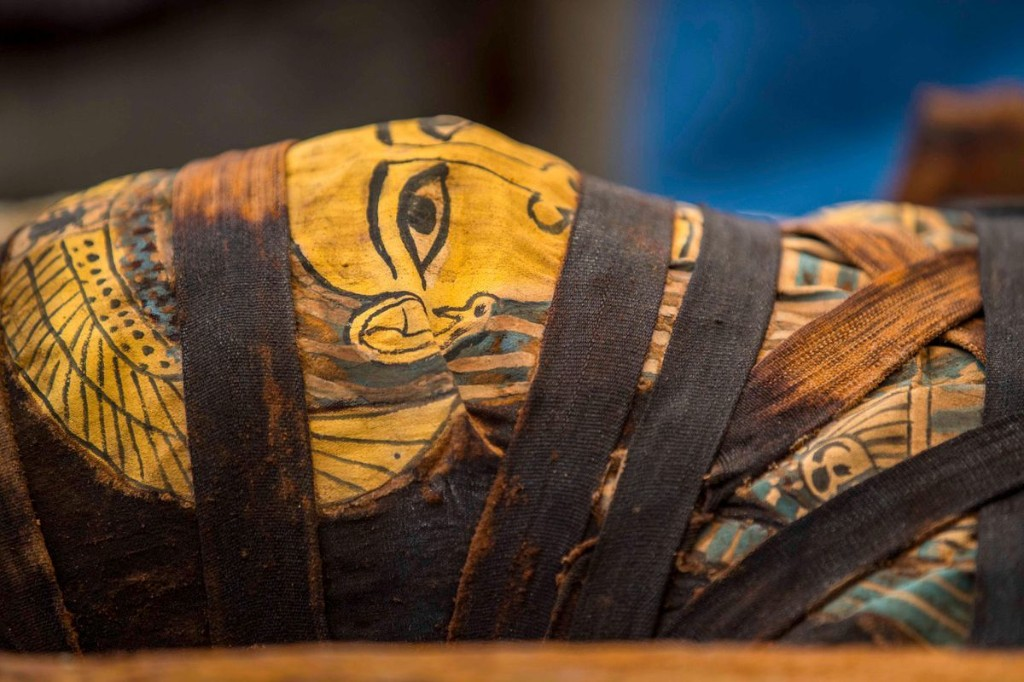 Watch: Egyptian Coffin Opened For First Time In 2,600 Years To Reveal Perfectly Preserved, Colorful Mummy