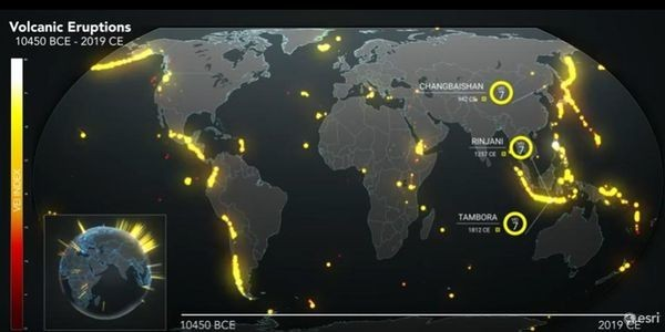 This Map Shows Earth's Volcanic Activity Over The Past 10,000 Years