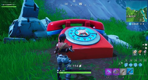 Fortnite Challenge: Where To Dial The Pizza Pit Number On The Big Telephone East Of The Block