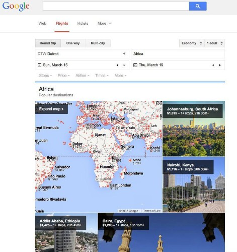 Google's New Flight Search Tool Helps You Find The Best Price