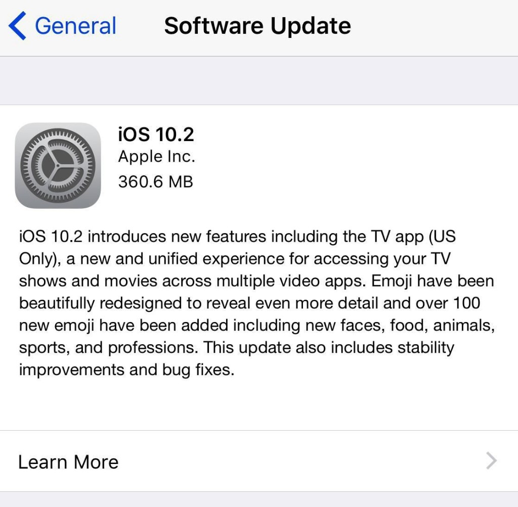 Apple iOS 10.2 Is Now Available: What Is Included In The Update?