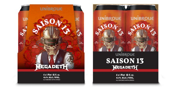 Megadeth's Second Beer Starts Selling In The U.S.