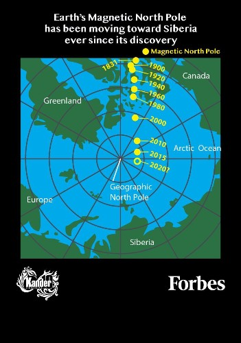 The Magnetic North Pole Has Moved. Here's What You Need To Know [Infographic]
