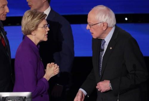 Elizabeth Warren, Bernie Sanders And The Handshake That Wasn't