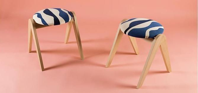 French Designer Brings New Life To Vintage Furniture With Her Abstract Textile Designs