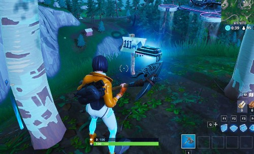 Fortnite Fortbyte #64 Location: 'Accessible By Rox On Top Of Stunt Mountain'