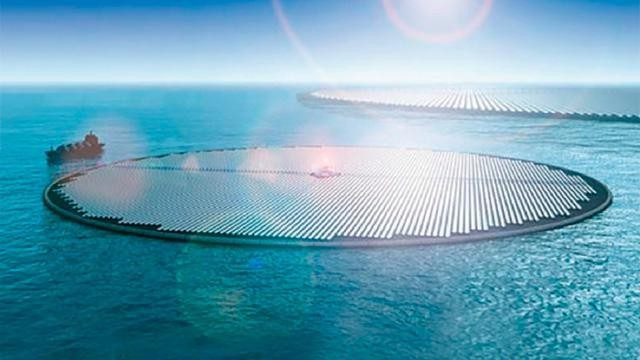 Giant Floating Solar Farms Could Extract CO2 From Seawater, Producing Methanol Fuel