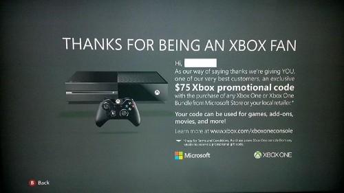 Xbox One Marketing Gets Aggressive As Microsoft Offers $75 Digital Credit