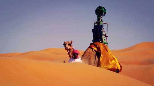 Google Straps A Street View Camera On A Camel's Hump To Capture Liwa Desert