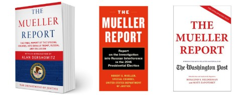 Why The Mueller Report Print Editions Are Already Popular Bestsellers