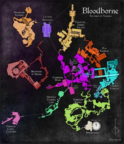 How Does This Map Of 'Bloodborne' Stack Up Against The 'Dark Souls' Map?