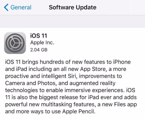 Apple iOS 11 Starts Causing Problems