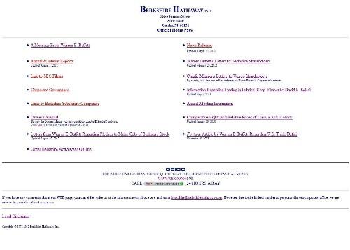 The Top 5 Ugliest Billionaire Websites
