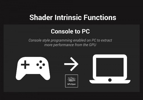AMD Brings More Console Features To PC Gaming With New 'Shader Intrinsic Functions' For GPUOpen