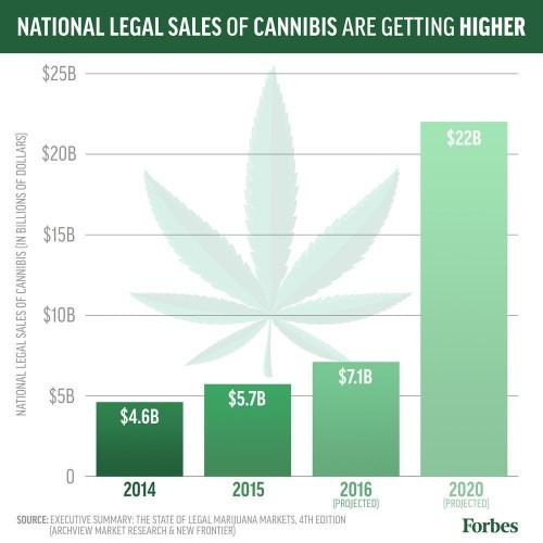 Legal U.S. Marijuana Market Will Grow To $7.1 Billion In 2016: Report