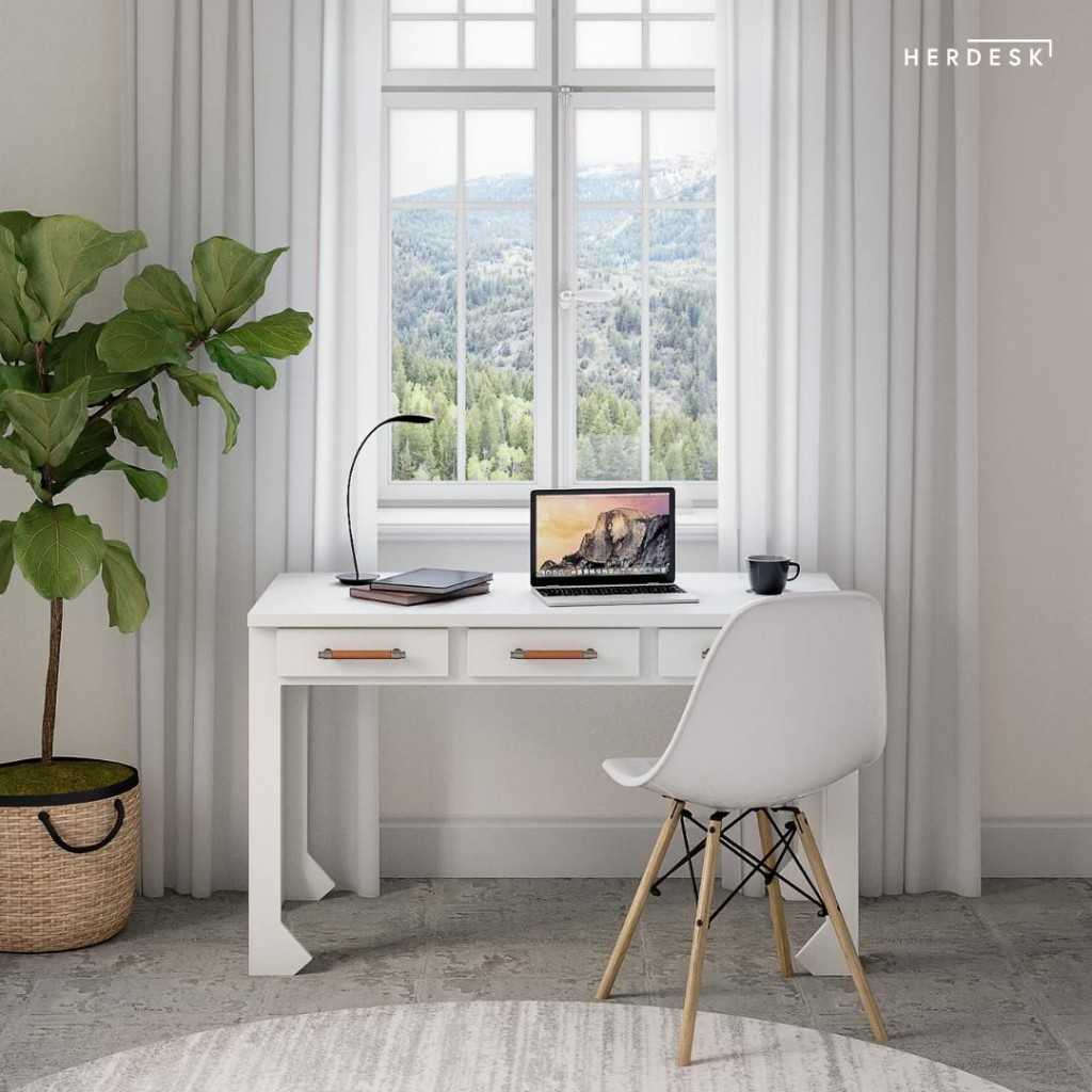 How herdesk, A Woman-Owned, American-Made Furniture Company Is Wowing Fans With Its Desks Perfect For Working At Home