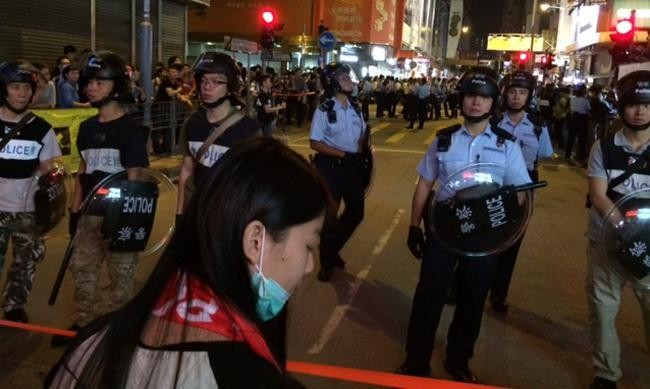 As Talk Of Clearing Protest Areas Grows, All Eyes Turn To Hong Kong Police