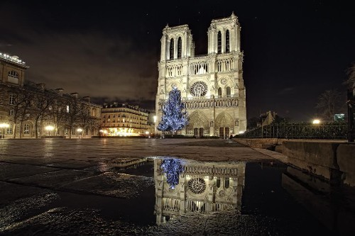 France In Disbelief As Notre Dame Succumbs To Flames