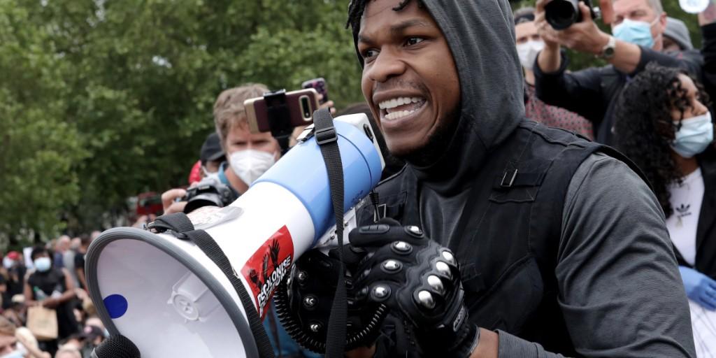 John Boyega's Black Lives Matter speech draws support from Jordan Peele, Mark Hamill, and more