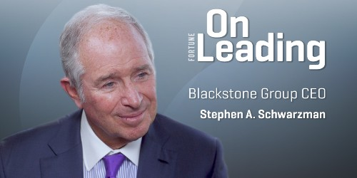Blackstone CEO's Leadership Lesson: Think Big and Never Give Up