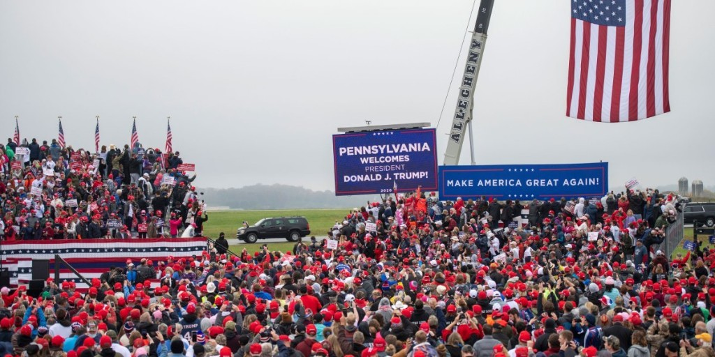 Trump's narrowing path to victory runs through two states