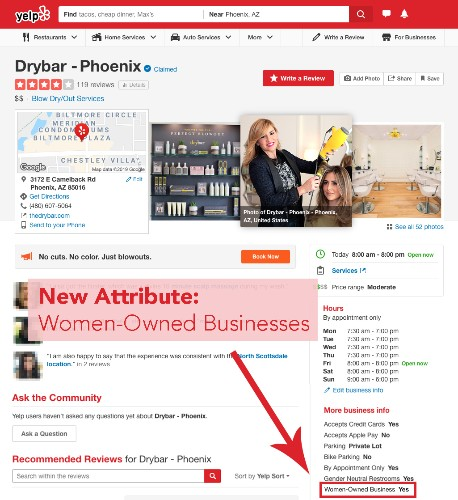 Yelp Will Now Tell You If a Business Is 'Women-Owned'